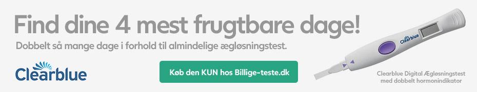 Clearblue ægløsningstest (advanced digital) - Find dine 4 mest frugtbare dage