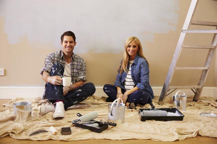 Må jeg male rækkehus med vandbaseret maling under en graviditet?